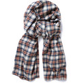 Aubin & Wills Sardis Plaid Cotton Flannel Scarf