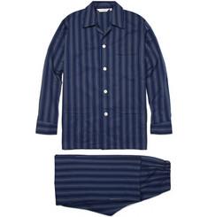Derek Rose Eton Striped Cotton Pyjama Set