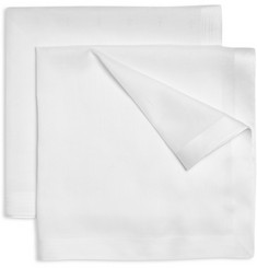 Derek Rose Two-Pack Fleur-De-Lis Cotton Handkerchiefs