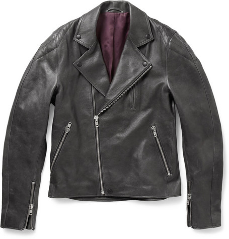 Acne Studios Gasoline Leather Biker Jacket