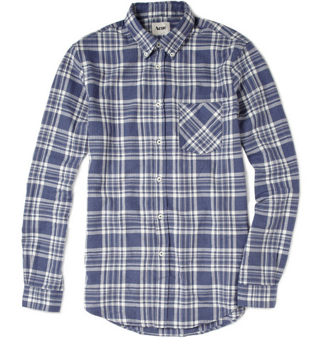 Acne Straight Check Cotton Shirt
