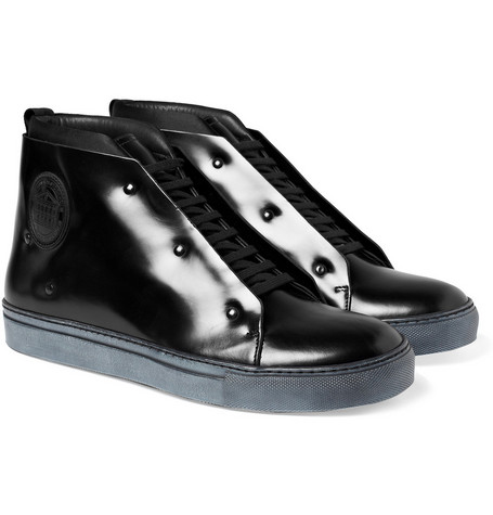 Acne Mercer Leather High Top Sneakers