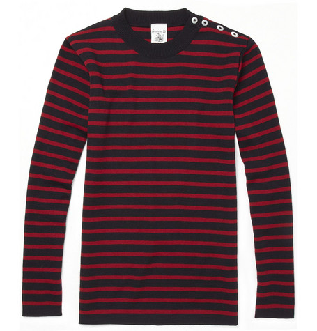 S.N.S. Herning Naval Striped Wool Hand-Knitted Sweater