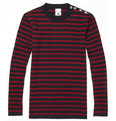 S.N.S. Herning - Naval Striped Wool Hand-Knitted Sweater