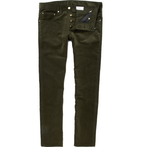 AMI Slim Fit Corduroy Trousers