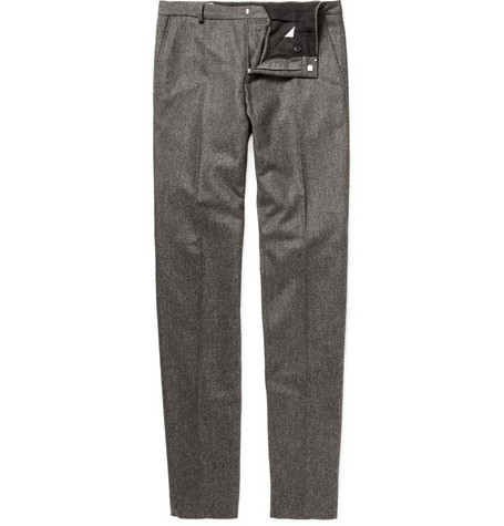 AMI Slim Fit Wool Flannel Trousers