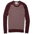 AMI Striped Wool Sweater