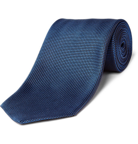 Charvet Small Diamond Pattern Silk Tie