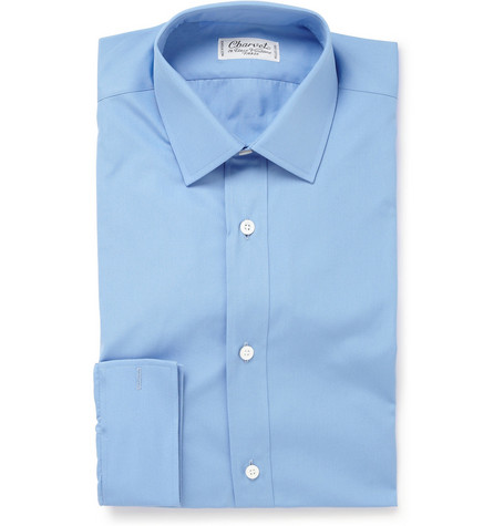 Charvet Light Blue Cotton Shirt