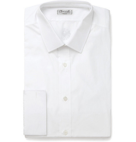Charvet White Cotton Shirt