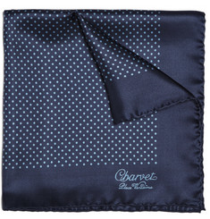 Charvet Polka-Dot Silk Pocket Square