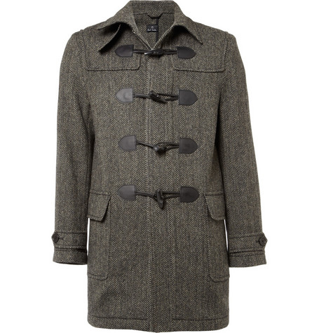 PS by Paul Smith Herringbone Tweed Duffle Coat