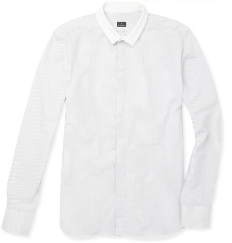 PS by Paul Smith Contrast Collar Mini Stripe Shirt