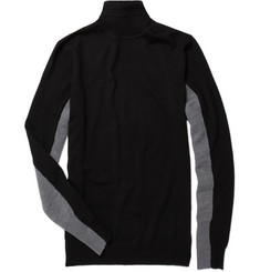 PS by Paul Smith Contrast Panel Merino Wool Roll Neck