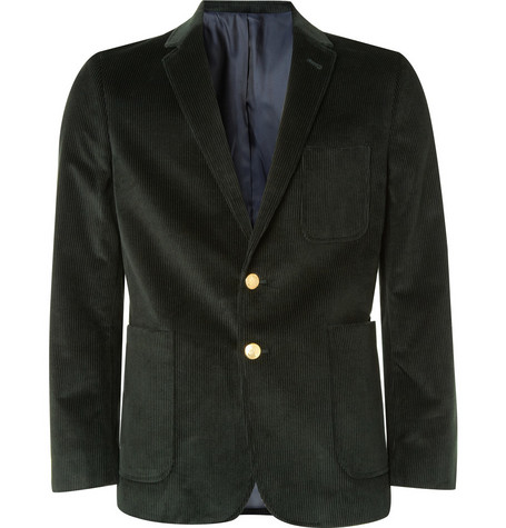 Maison Kitsuné Two Button Corduroy Jacket