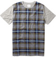 B Store Plaid Cotton T-shirt