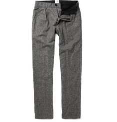 B Store Pleated Wool-Blend Trousers