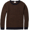 Gant Rugger Striped Chunky Knit Wool Sweater
