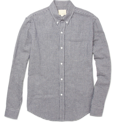 Band of Outsiders Gingham Check Cotton Shirt