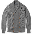 Monsieur Lacenaire - Pierre-Francois Double-Breasted Cardigan with Detachable Scarf