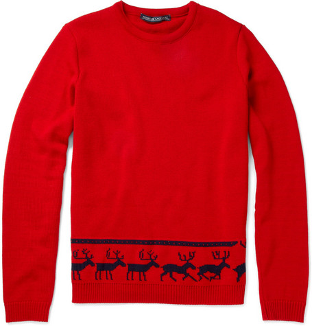 Monsieur Lacenaire Merino Wool Reindeer Sweater