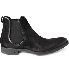 John Varvatos Ago Suede Chelsea Boots