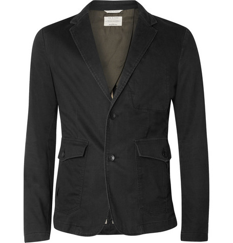 Rag & bone Washed Cotton-Blend Blazer