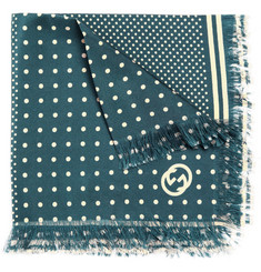 Gucci Frayed Silk Pocket Square