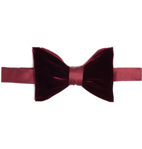 Lanvin Double Silk Bow Tie