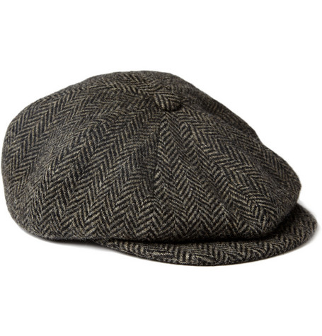 Paul Smith Shoes & Accessories Herringbone Wool Flat Cap