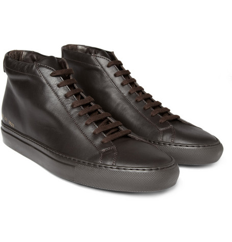 Common Projects Mid Top Leather Sneakers