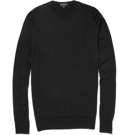 John Smedley Hunter Crew Neck Merino Wool Sweater