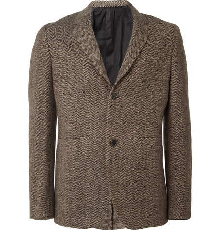 Margaret Howell Two Button Herringbone Tweed Blazer