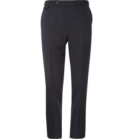 Margaret Howell Linen-Blend Straight Leg Trousers