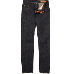 Jean Shop Rocker Rinsed Straight-Leg Selvedge Jeans