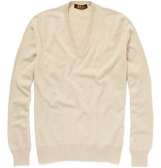 Loro Piana V-Neck Baby Cashmere Sweater