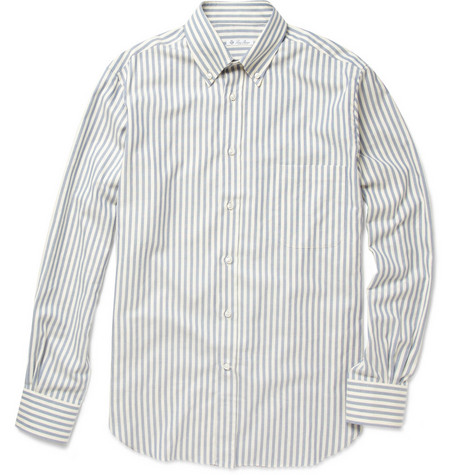 Loro Piana Cotton-Blend Bengal Stripe Shirt