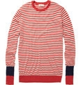 Folk Striped Cotton Knitted Top