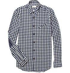 Folk Printed Elbow Patch Check Shirt
