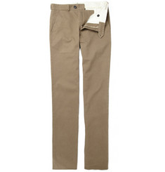 Oliver Spencer Slim Cotton Twill Trousers