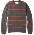 Oliver Spencer Striped Wool-Blend Sweater