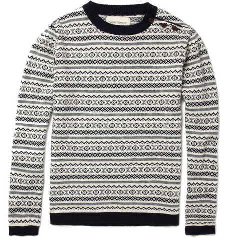 Oliver Spencer Fair Isle Knit Sweater