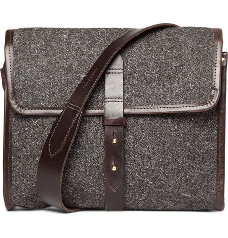 Cherchbi Tweed Messenger Bag