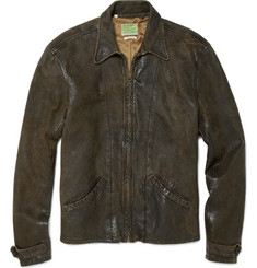 Levi's Vintage Clothing Distressed Leather Biker Jacket