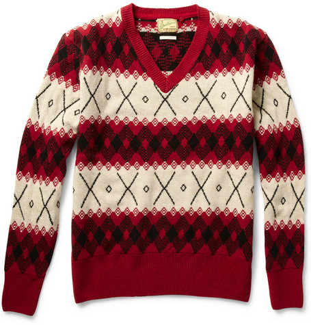 Levi's Vintage Clothing Patterned Wool Sweater