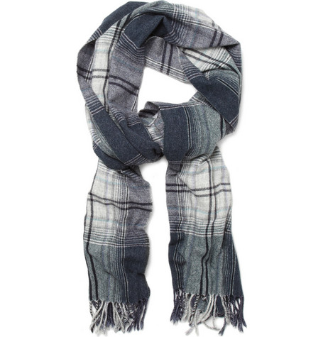 Hartford Wool-Blend Plaid Scarf