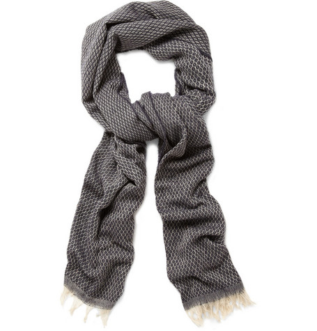 Hartford Wool and Cotton-Blend Scarf