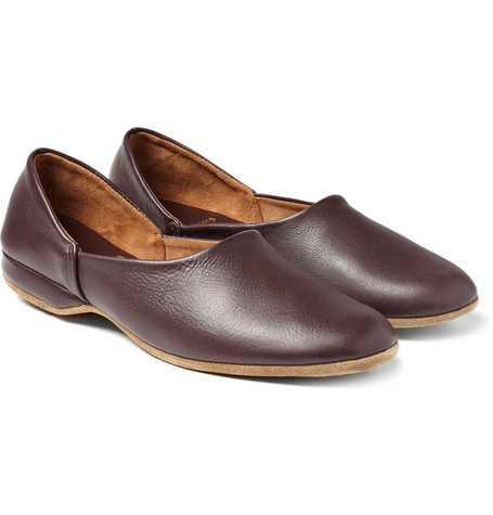 Derek Rose Gower Leather Slippers