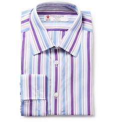 Turnbull & Asser Spread Collar Striped Shirt
