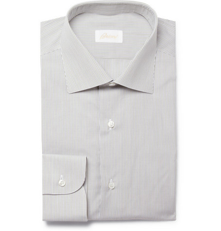 Brioni Fine Stripe Cotton Shirt